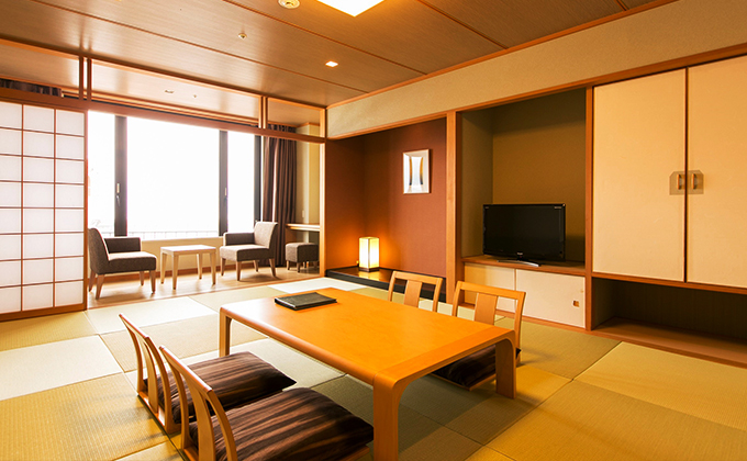 All rooms have a view of Mt. Fuji.