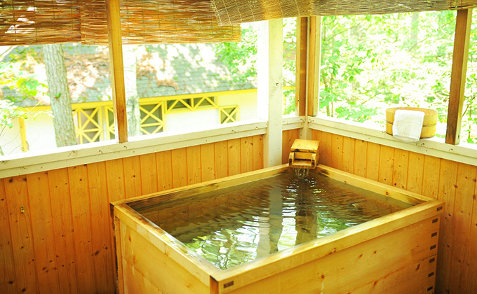 Take a private outdoor bath whenever you like.