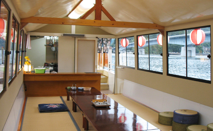Traditional Japanese houseboat